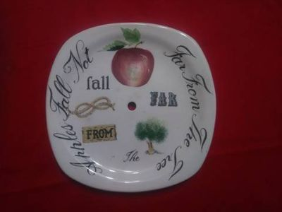 ceramic clock face - one of a kind for the clock maker