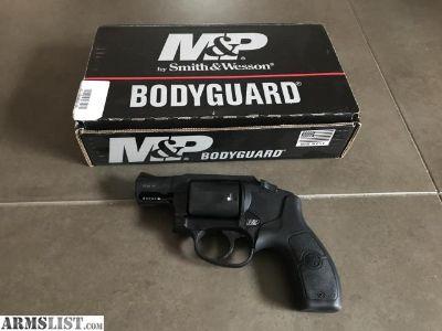 For Sale: S&W m&p bodyguard 38 crimson trace revolver