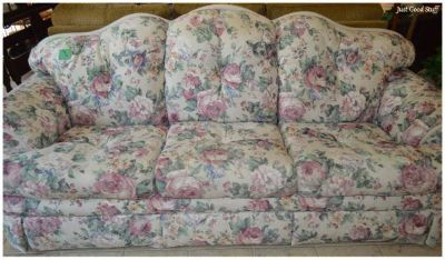 Very comfortable Flower covered Sofa