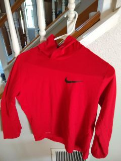 Nike youth L hooded shirt excellent condition(Tshirt weight. Not a sweati)