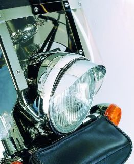 "Purchase Chrome 7"" smooth motorcycle headlight ""VISOR"" & (pair) 4-1/2"" Spotlight ""VISORS"" motorcycle in Viola, Arkansas, US, for US $33.95"