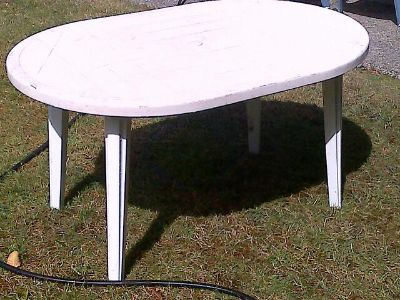 $30, Plastic Table  4 Chairs