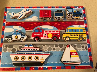 Vehicles chunky puzzle by Melissa and Doug