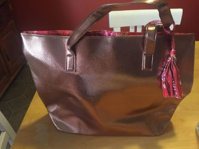 Chocolate brown tote