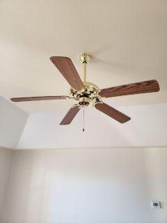 Brass ceiling fan