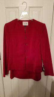 Red skirt suit set