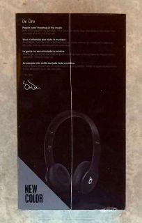New! Beats by Dr. Dre Solo HD Headphones - Drenched In Color - Black