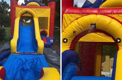 Mule town inflatables bounce house / slide combo