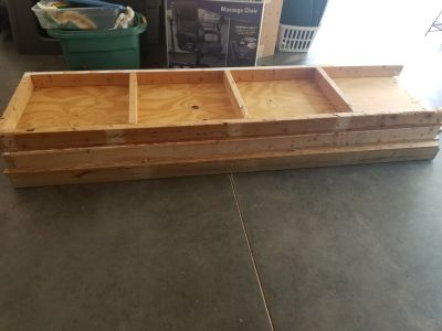 2x4s and 8x2 shelves. Free