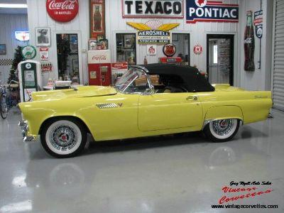 1955 Ford Thunderbird Convertible / Yellow