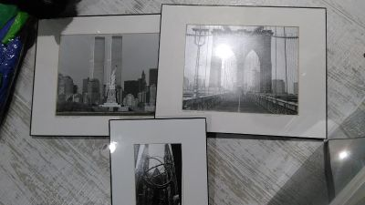 World Trade Center/Statue of Liberty, Brooklyn Bridge, and armillary sculpture pictures