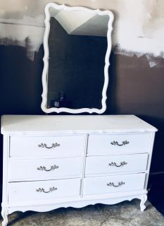 French Provincial Dresser & Mirror