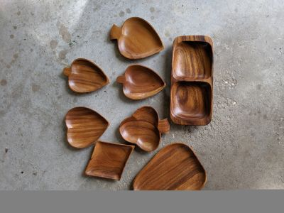Wood serving dishes from phillipines
