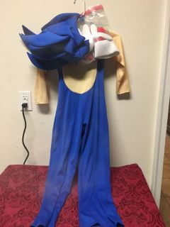 Sonic The Hedgehog Costume - Size 4-6