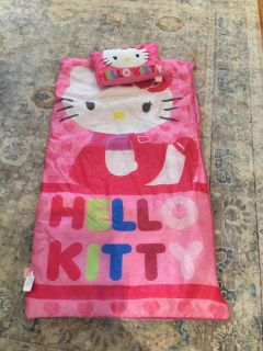 Hello Kitty lightweight sleeping bag with pillow