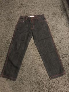 Men s jeans and a pair of shorts