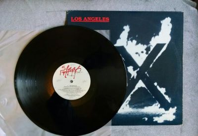 X LOS ANGELES VINYL LP 1980 SLASH VG+, Zoom-Doe-Exene-Bonenreak-Manzarek
