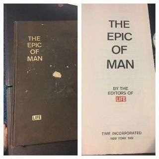 57 year old Life Book. The Epic of Man. Large hardback book with color pages