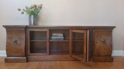 French-Style Burled Wood Credenza