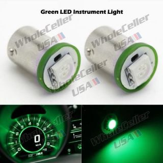 Sell 2x Ultra Green 5050 SMD LED Instrument Panel BA9S 1815 1895 Light Bulb motorcycle in Milpitas, California, United States