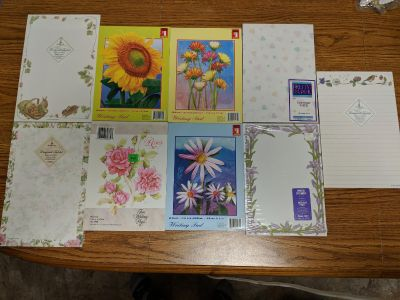 9 variety of assorted writing pads and stationary