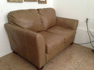 Tan Loveseat and 2 matching chairs