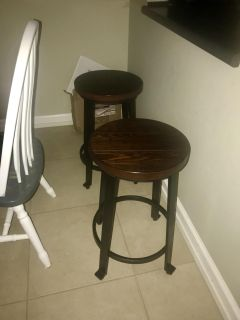 Pair of counter height stools