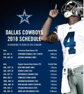 Buccaneers vs Cowboys - Section 319 row 12, Seats 9-12; 4 hard tickets or ...