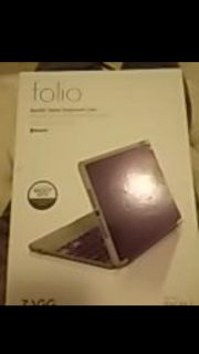 Hard purple case and Bluetooth keyboard for ipad air 2