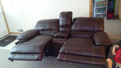 Free electric couch. Works great but left arm is broken