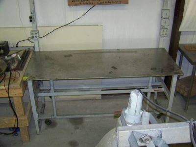 Shop Table heavy duty adjustable Stainless Steel