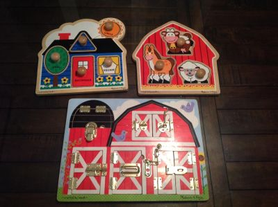 3 Melissa and Doug puzzles $10 for ALL