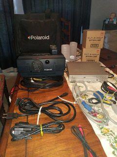 Polaroid projector with DVD player