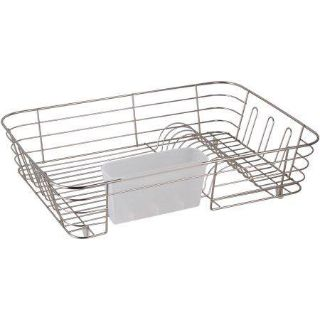 Real Home Extra Large Nickel, Chrome Dish Drainer