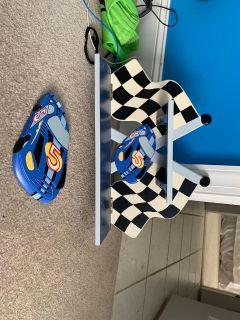 Kids Race car wall shelf and decor porch pick up