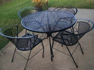 Wrought Iron Patio Table & Chairs