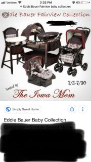 Highchair, pack n play, stroller, car seat combo