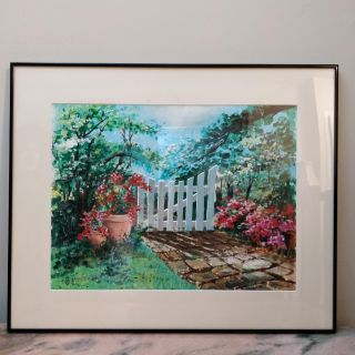Beautiful vintage framed painting, signed