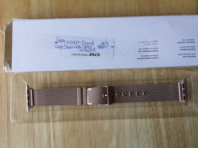 Apple Watch band 38mm gold stainless steel with buckle