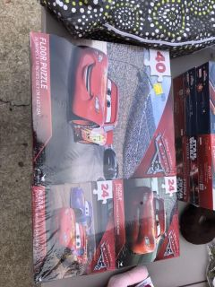3 CARS Puzzles - new not opened.