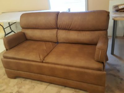 RV Couch Bed Leather
