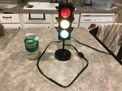 Very cool stop light lamp - perfect for your little vehicle lover!