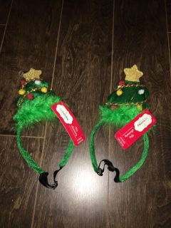2 dog head bands new with tags