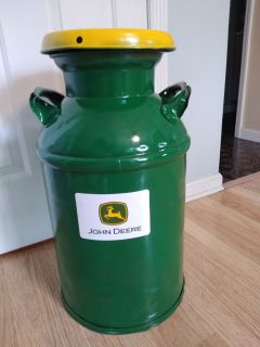 John Deere inspired milk can