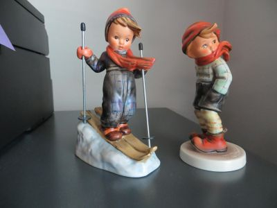 """Hummel Figurines """"Skier"""" and """"March Winds"""""""