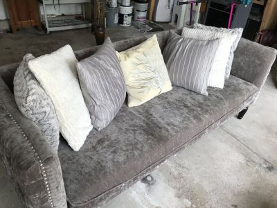 Beautiful stylish couch with pillows!