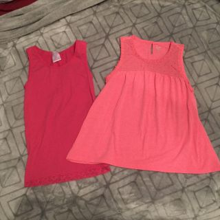 Pink tank tops size 14