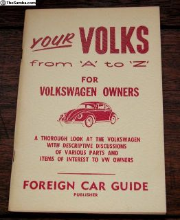 Your Volks from 'A' to 'Z' for Volkswagen Owners