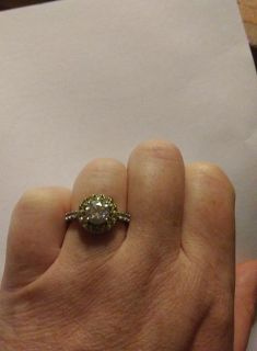 2.38ctw Lab Created Strontium Titanate with Yellow Sapphire, and White Zircon Silver Ring