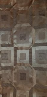 Brown and tan shower curtain